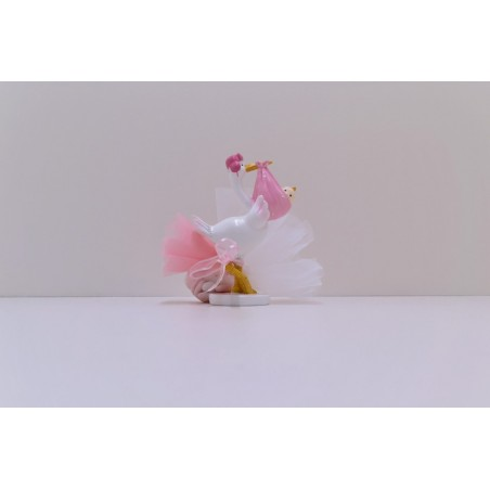 Grande cigogne rose
