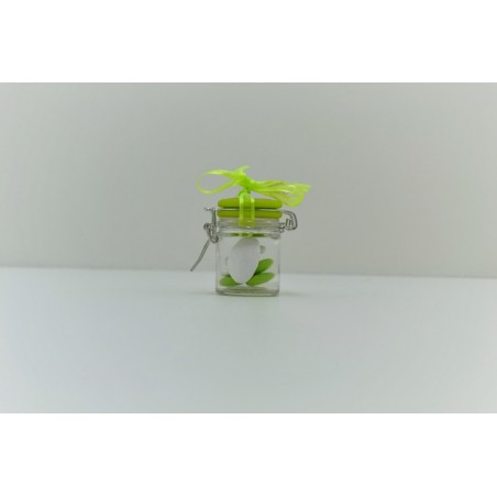 Pot de confiture couvercle vert