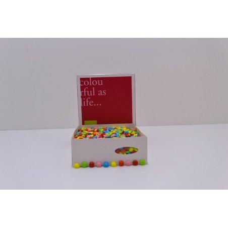 Dragées chocolat mini lentilles assorti 1KG