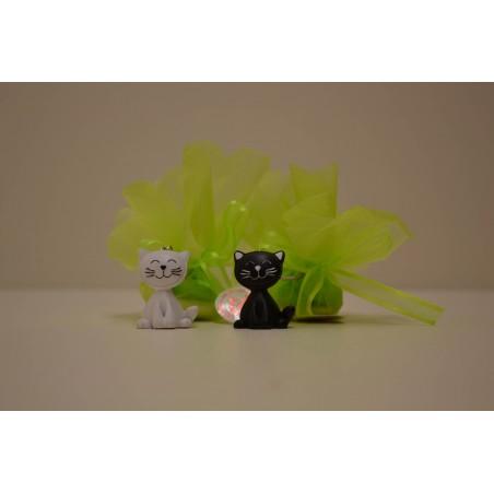 Chat mix noir et blanc porte clef prix pour 2 chats