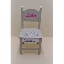Chaise avec prénom