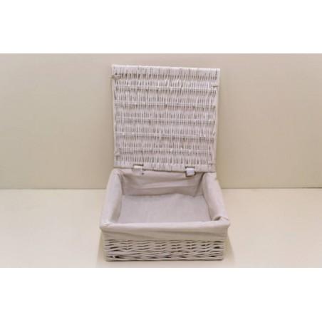 Pannier blanc tissu