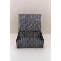 Panier coffre gris