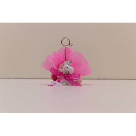 Licorne clip rose