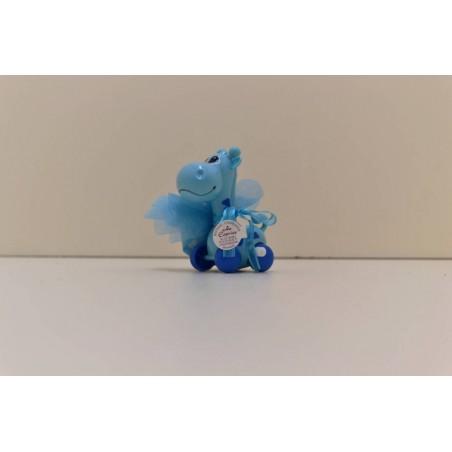 Grirafe turquoise sur roue