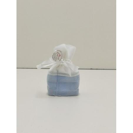 pochon bleu ligné
