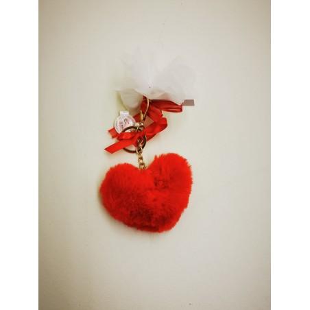 Porte clef cœur rouge
