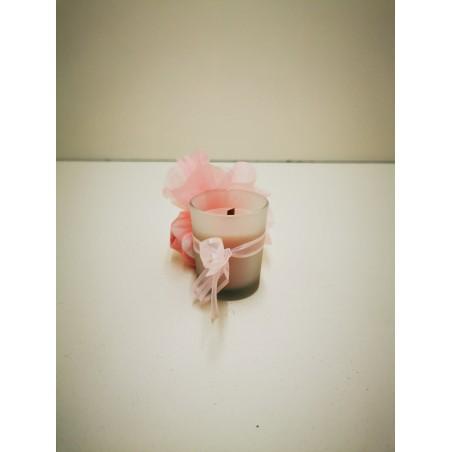 petite bougie couleur rose
