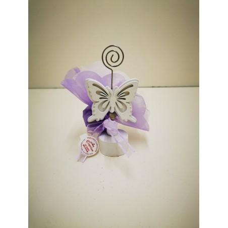 papillon en bois blanc