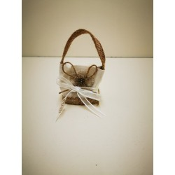 sac naturel avec fleur