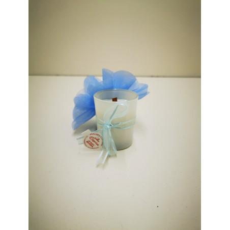 petite bougie couleur bleu