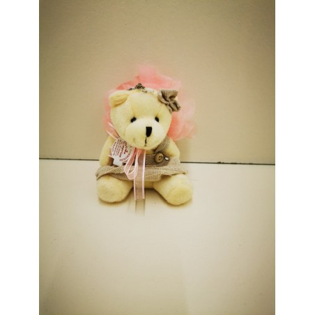 ours beige porte clef fille