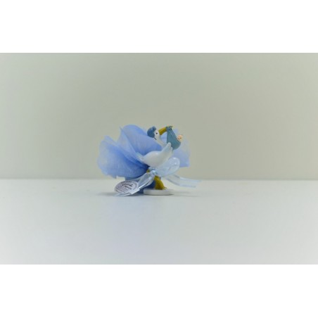 Cigogne bleu avec bébé