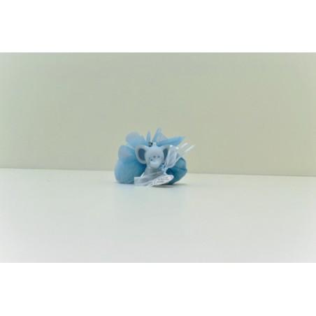 Porte clé éléphant bleu